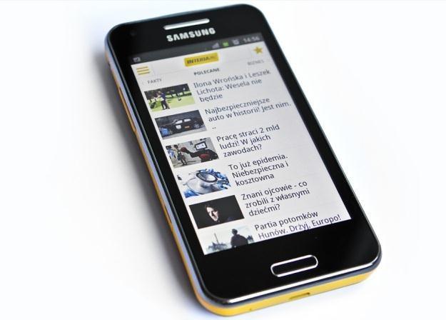 Samsung Galaxy Beam - projektor to dobry pomysł, ale przez to cena telefonu  wzrosła /INTERIA.PL