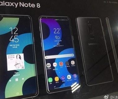 Samsung Galaxy Note 8 na zdjęciach i plakacie reklamowym