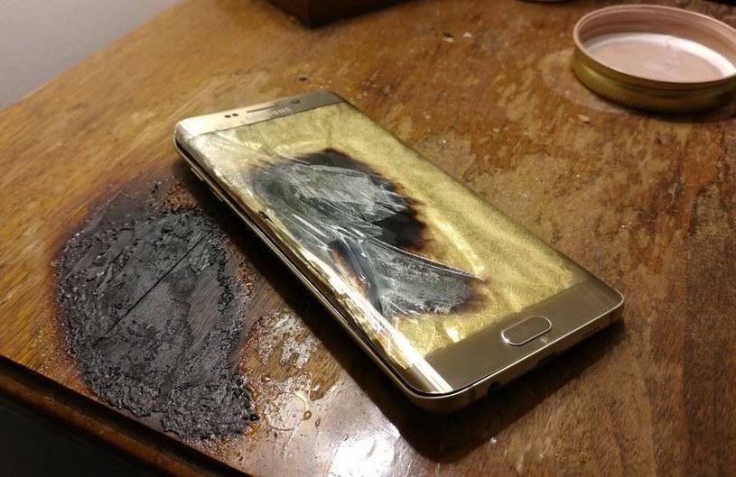 Samsung Galaxy S6 Edge po rzekomej eksplozji /Reddit.com /Internet