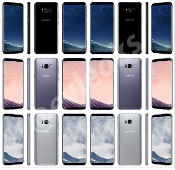 Samsung Galaxy S8 - trzy wersje kolorystyczne /Twitter /Internet