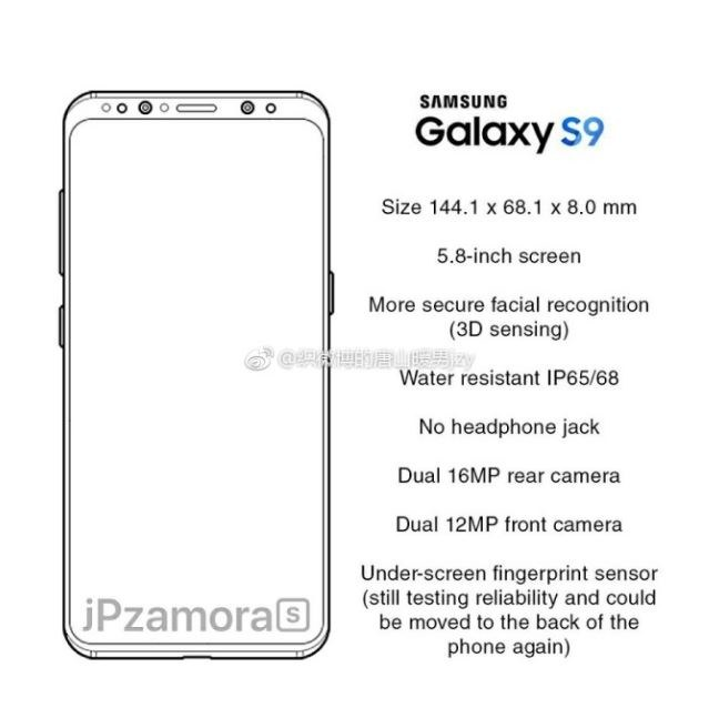Samsung Galaxy S9 będzie miał jeszcze cieńsze ramki /TechDroider /Internet