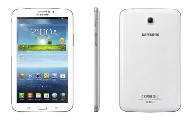 Samsung Galaxy Tab Plus for the first three pictures