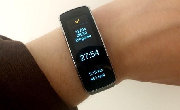 Samsung Gear Fit - inteligentna opaska, która ma pełnić rolę naszego trenera i asystenta /INTERIA.PL