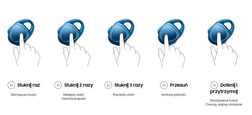 Samsung Gear IconX - obsługa /materiały prasowe