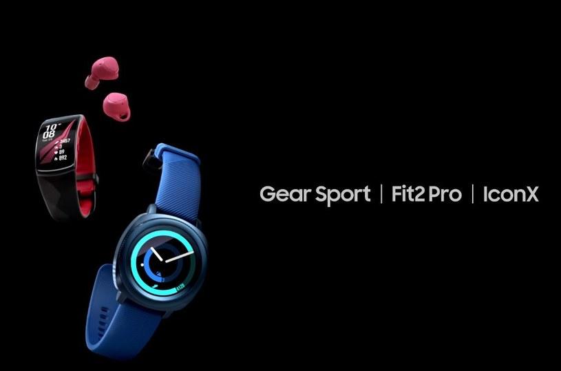 Samsung Gear Sport, Gear Fit2 Pro i Gear Icon X /materiały prasowe