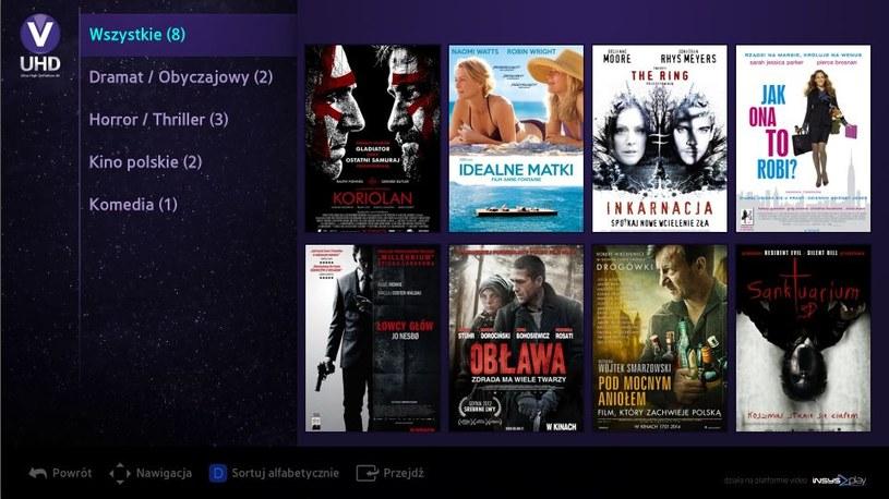 Samsung Smart TV UHD - katalog dostępnych 8 filmów /materiały prasowe