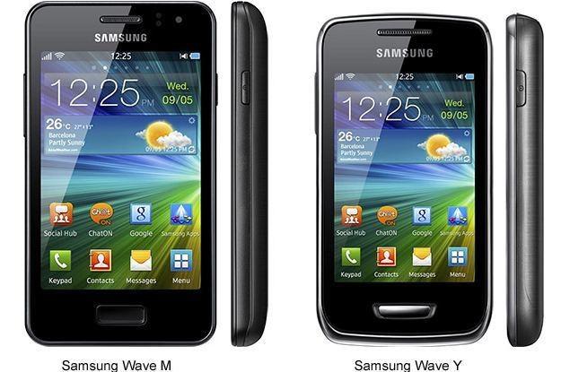 Samsung Wave M i Wave Y /materiały prasowe