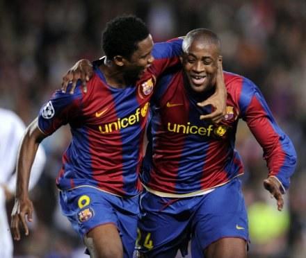 Samuel Eto'o i Yaya Toure /AFP