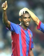 Samuel Eto'o. Na niego liczą kibice Barcelony w meczu z Realem /AFP