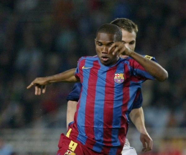 Samuel Eto'o strzelił jedną z bramek dla Barcelony w meczu z Realem Sociedad /AFP