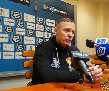 Sandecja - Jagiellonia. Ireneusz Mamrot: Zagraliśmy dobry mecz. Wideo