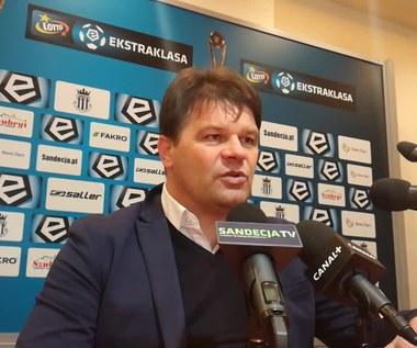 Sandecja - Lech 0-0. Mroczkowski analizuje spotkanie (wideo)