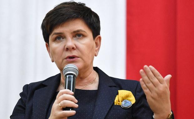 Sandomierz: Przepychanki i wyzwiska na spotkaniu z Beatą Szydło