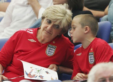 Sandra Beckham i jej wnuk  Brooklyn /Getty Images/Flash Press Media