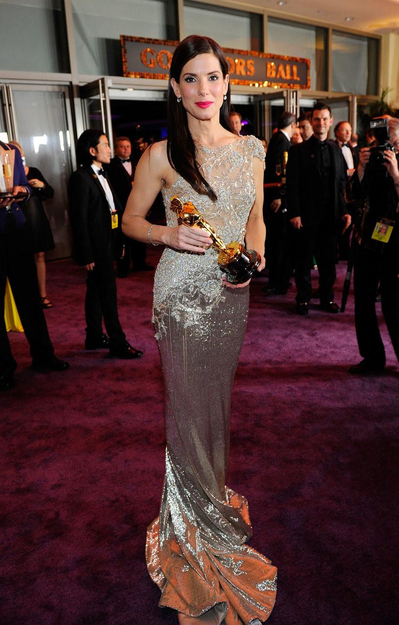 Sandra Bullock w sukni od Marchesy  /Getty Images/Flash Press Media