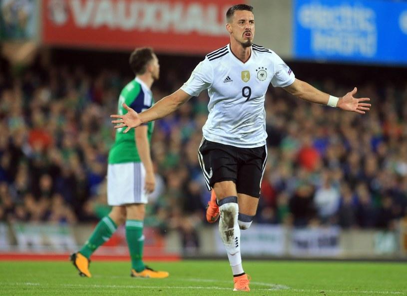 Sandro Wagner strzelił gola w meczu z Irlandią Północną /PAP/EPA