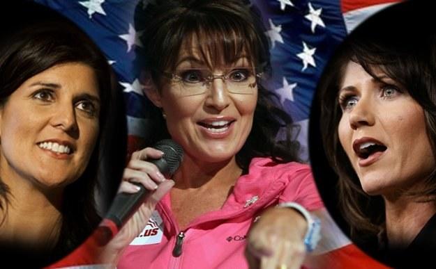 Sarah Palin to polityczna idolka Nikki Haley (z lewej) i Kristi Noem (z prawej) /New York Times/©The International Herald Tribune
