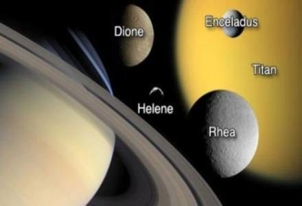 Saturn i jego satelity/fot. NASA /Kopalnia Wiedzy