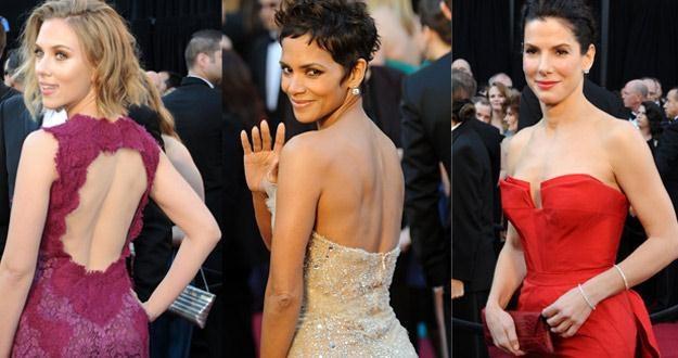 Scarlett Johansson, Halle Berry i Sandra Bullock - jak zwykle zachwycały /AFP