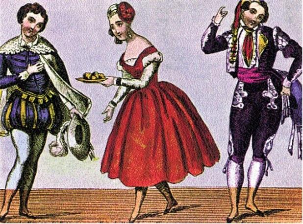 Scena z XVIII-wiecznego wystawienia opery Mozarta opartej na sztuce Beaumarchais'go Wesele Figara /Encyklopedia Internautica