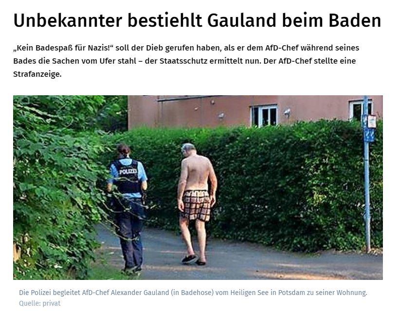 Screen pierwszej strony niemieckiej gazety MAZ /