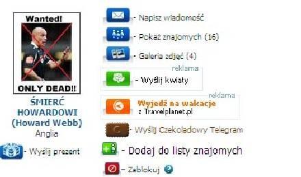 """Screen z portalu """"Nasza klasa"""" /Internet"""