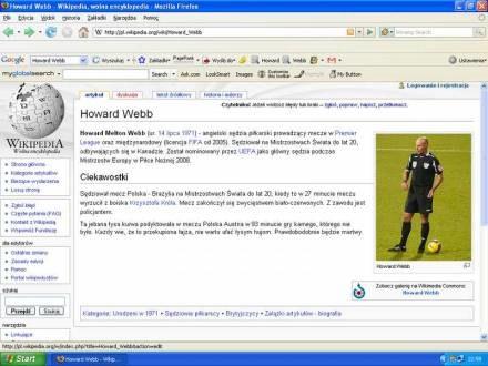 """Screen z """"Wikipedii"""" /Internet"""