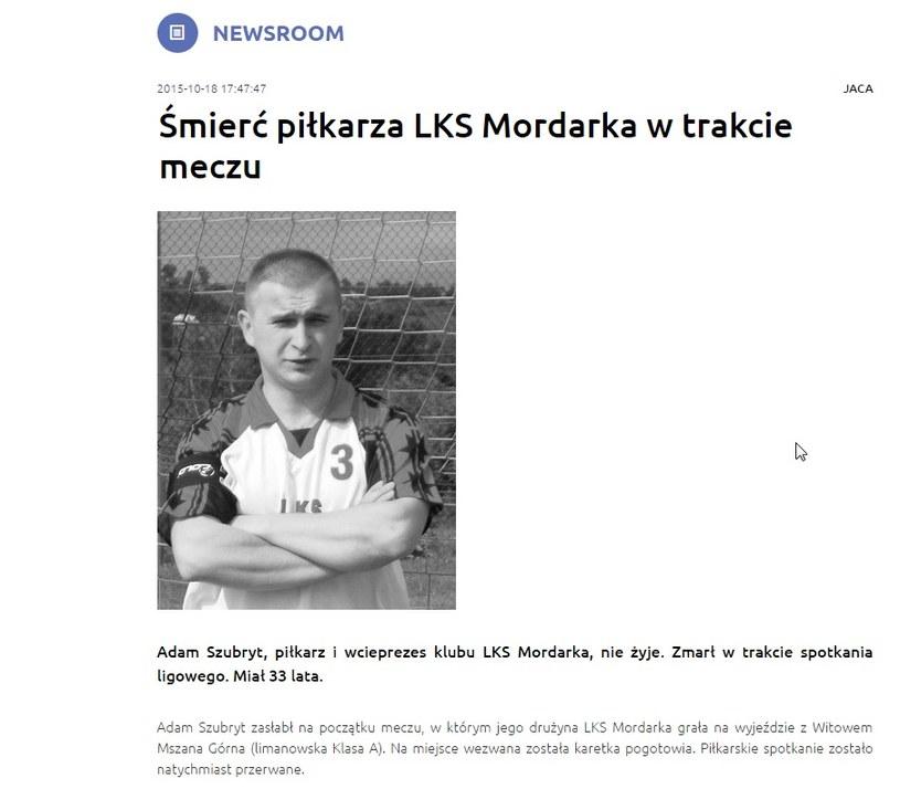 Screen ze strony Limanowa.in /Internet