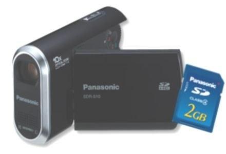 SDR-S10 - kamera jest sprzedawana w zestawie z kartą SD /materiały prasowe