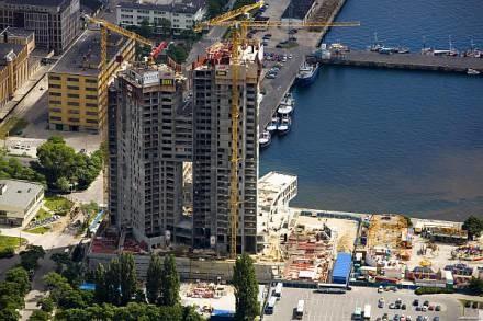 Sea Towers w trakcie budowy/fot. Ł. Unterschuetz /trójmiasto.pl