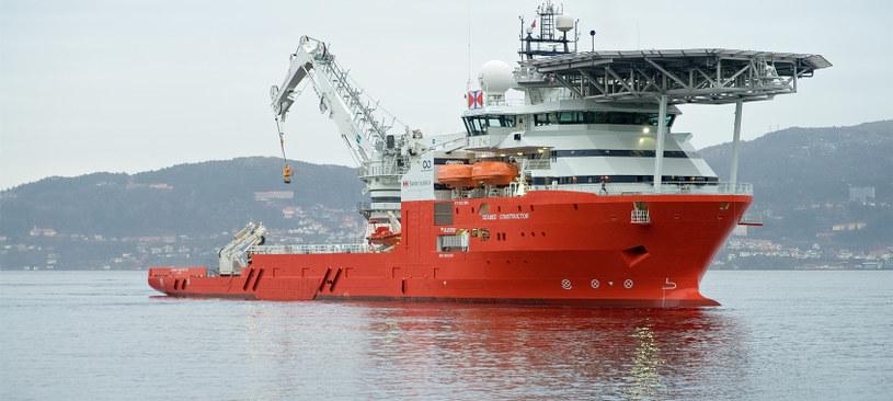 """""""Seabed Constructor"""" - statek używany do poszukiwań SS """"Minden"""" /Swire Seabed /INTERIA.PL/materiały prasowe"""