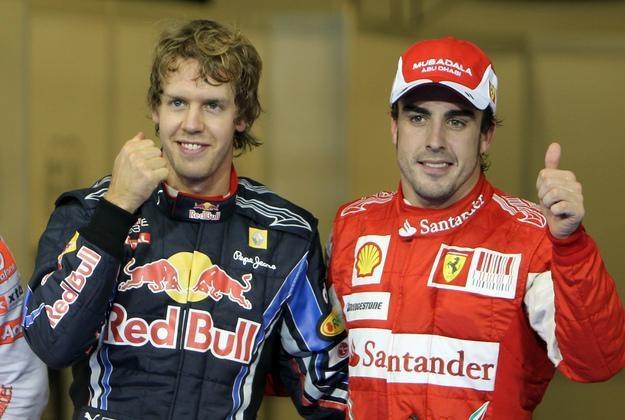 Sebastian Vettel (z lewej) i Fernando Alonso moga zostać kolegami z zespołu /AFP