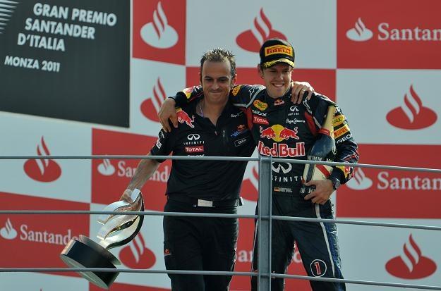 Sebastian Vettel (z prawej) /AFP