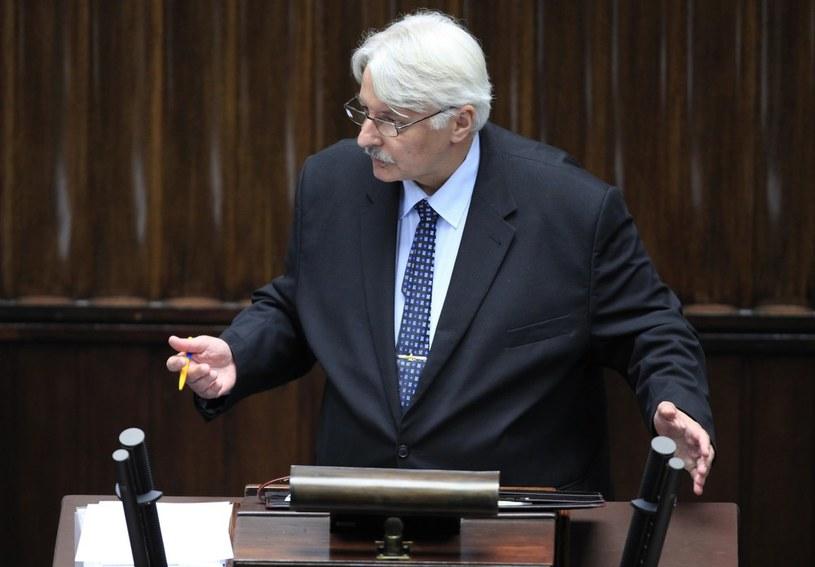 Sejmie Witold Waszczykowski (PiS). /Stefan Maszewski /Reporter