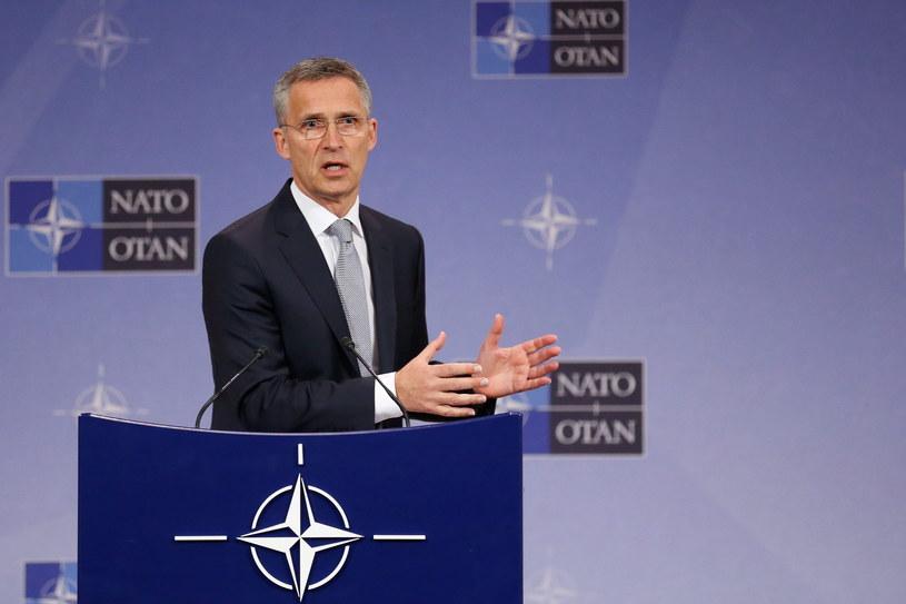 Sekretarz generalny NATO Jens Stoltenberg /LAURENT DUBRULE    /PAP/EPA