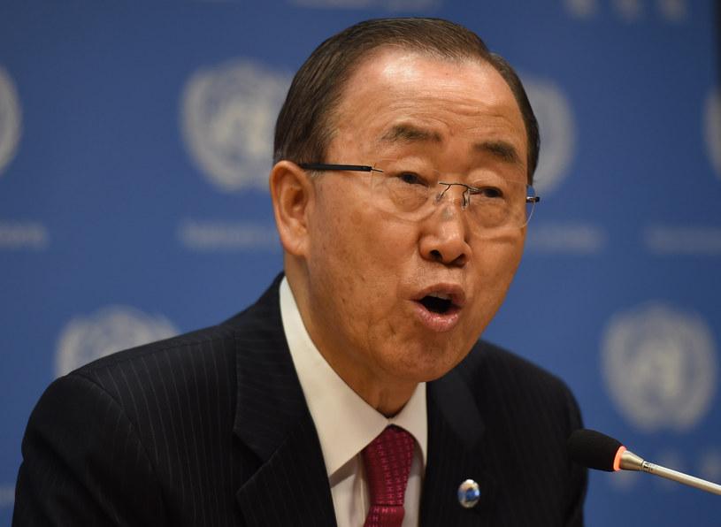 Sekretarz generalny ONZ Ban Ki-Moon /Don EMMERT / AFP /AFP