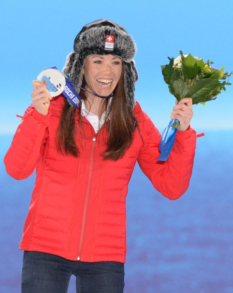 Selina Gasparin ze srebrnym medalem w Soczi /AFP