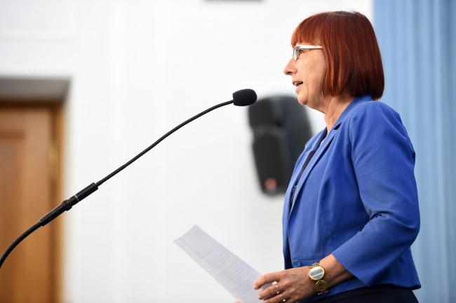 """Senator Helena Hatka o PO: """"Nasze drogi zaczęły się rozchodzić"""" /Jacek Turczyk /PAP"""