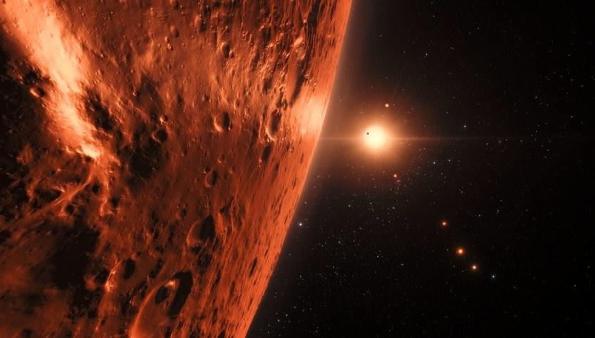 Sensacyjne odkrycie astronomów: Czerwony karzeł i jego siedem podobnych do Ziemi planet