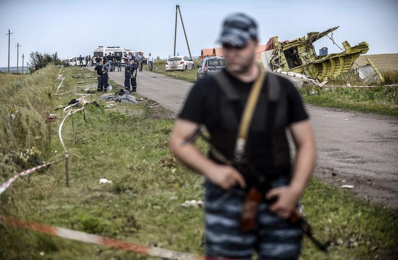 Separatyści na miejscu katatsrofy /AFP