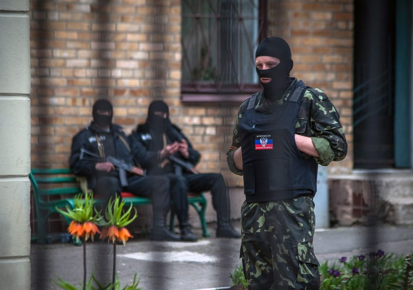 Separatyści w Doniecku /PAP/EPA