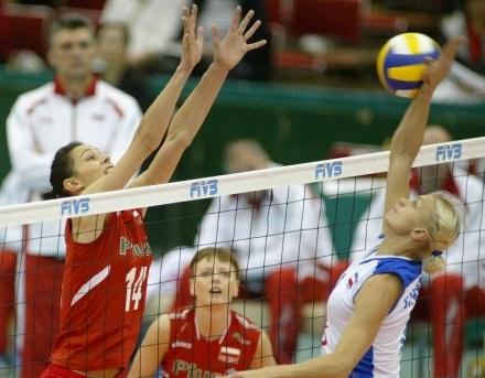 Serbki miały przygniatającą przewagę w ataku Fot. Rafał Bała /Agencja Przegląd Sportowy