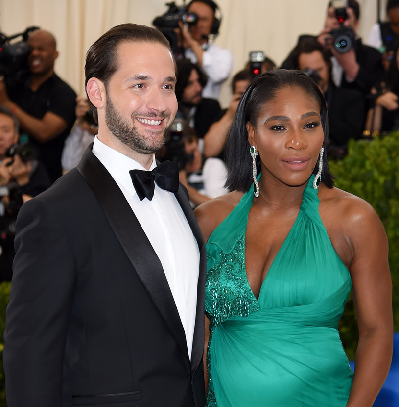 Serena Williams z narzeczonym /AFP