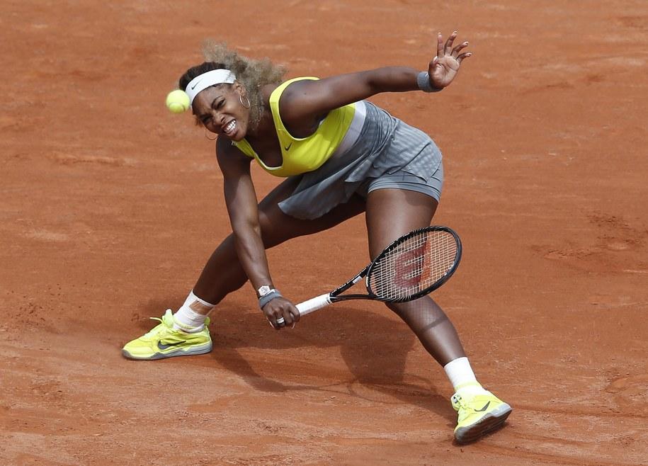Serena Williams żegna się z Paryżem /YOAN VALAT  /PAP/EPA