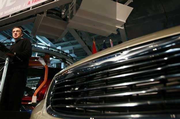 Sergio Marchionne w kanadyjskiej fabryce Chryslera /AFP