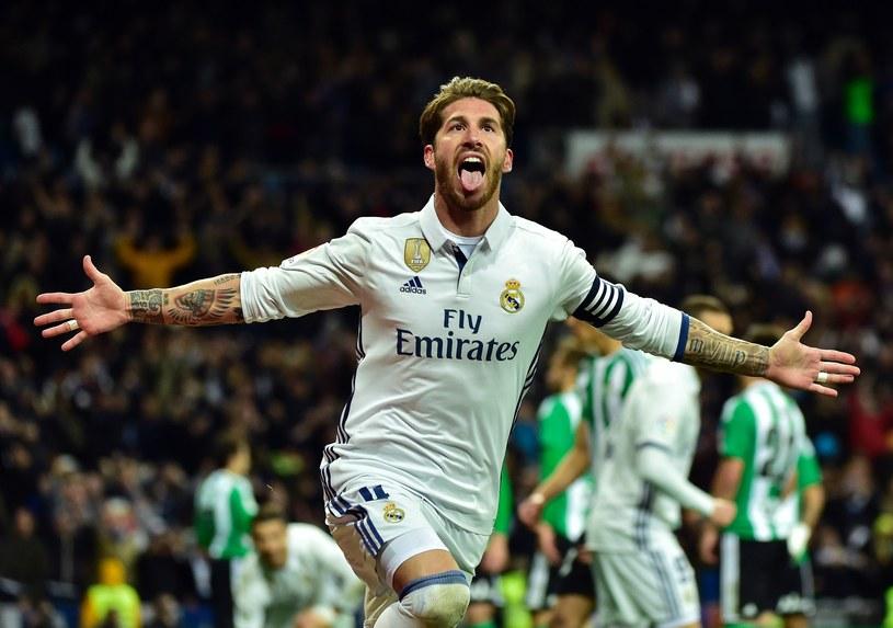 Sergio Ramos cieszy się ze zdobycia bramki w meczu Real - Betis /AFP