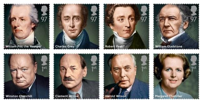 Seria znaczków z brytyjskimi premierami /ROYAL MAIL / HO /PAP/EPA