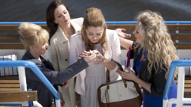 Serialowe przyjaciółki: Małgorzata Socha (Inga), Anita Sokołowska (Zuza), Magdalena Stużyńska (Anka) i Joanna Liszowska (Patrycja). /Polsat