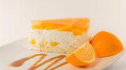 Sernik na zimno z mandarynką