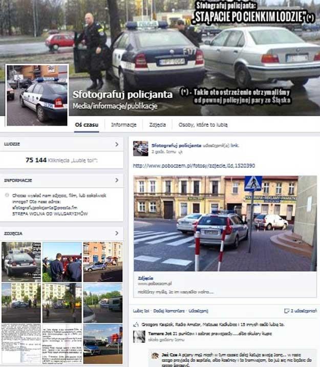"""Sfotografuj policjanta"" na Facebooku /"